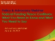 2013-10-23 12.00 Federal Funding Fiasco Continues_ What You Need to Know and What You Need to Say_0