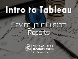 Intro to Tableau-4: Save your Custom Reports