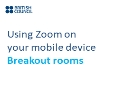 Using Zoom on my mobile device | Breakout rooms