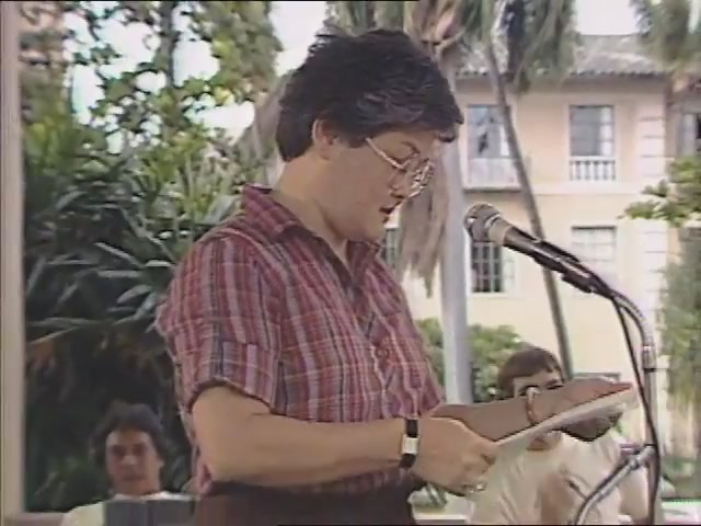 Mary Ann Pyun: remarks, Tribute to George Helm and Kimo Mitchell, March 1982