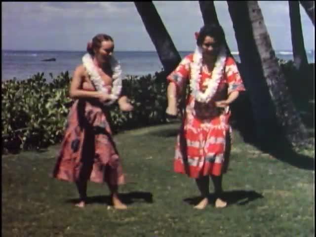 On the Beach at Waikiki 1953
