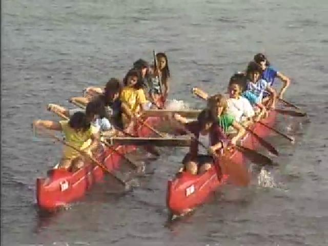 Canoe Paddlers in the Ala Wai