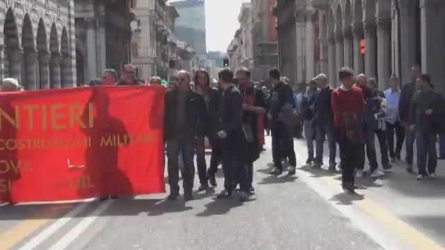 Fincantieri, sciopero e corteo dei lavoratori