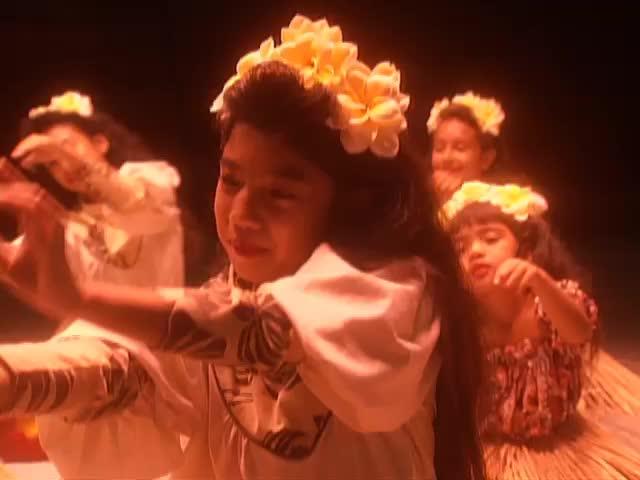 Kumu Hula Johnny Lum Ho's Hālau O Ka Ua Kani Lehua performs hula to the Forest Songs tape 1