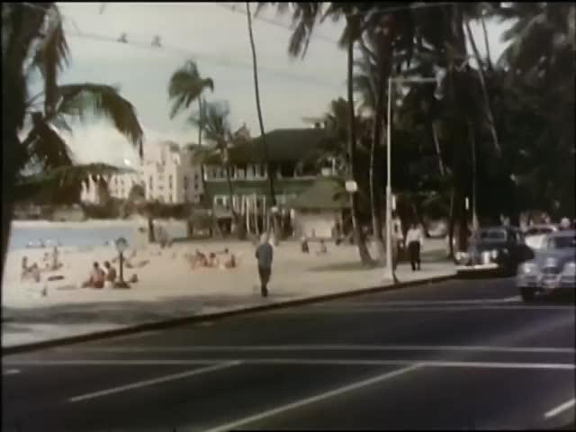 Aloha Week, Downtown Honolulu, Waikiki, Honolulu Airport 1950