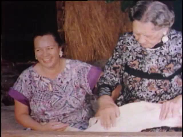 Tapa Making with Mrs. J. Wilson 1956