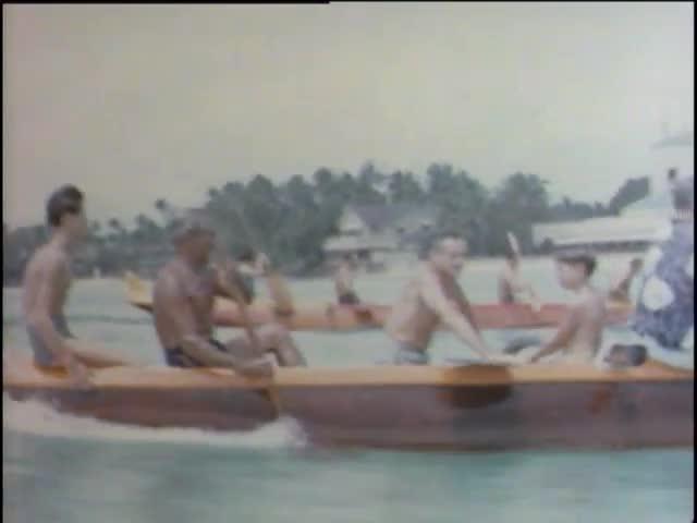 Outrigger canoe racing - Waikīkī Beach 1944
