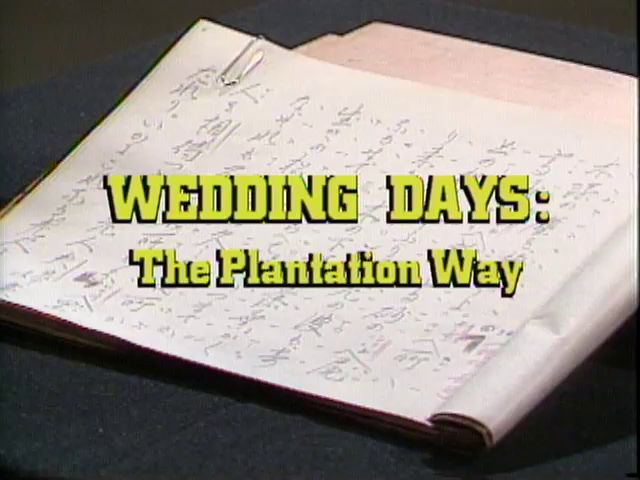 Wedding Days: The Plantation Way