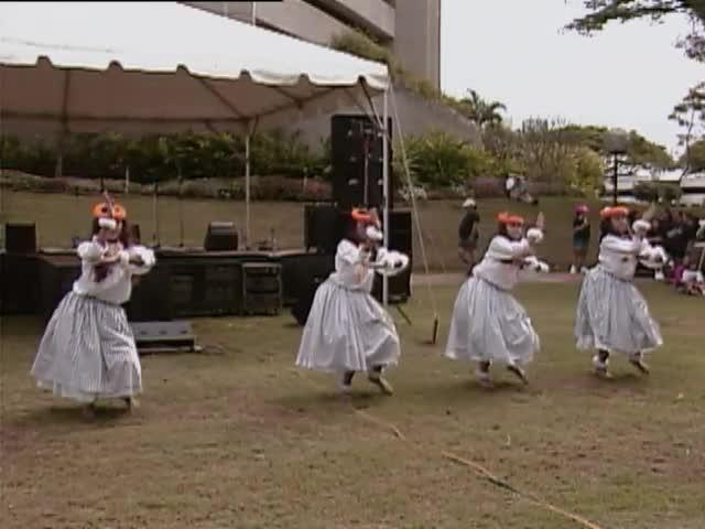 Hālau Mōhala ʻIlima and Hālau Kealiʻikaʻapunihonua Keʻena Aʻo Hula; Sky Gate Park 1/16/93