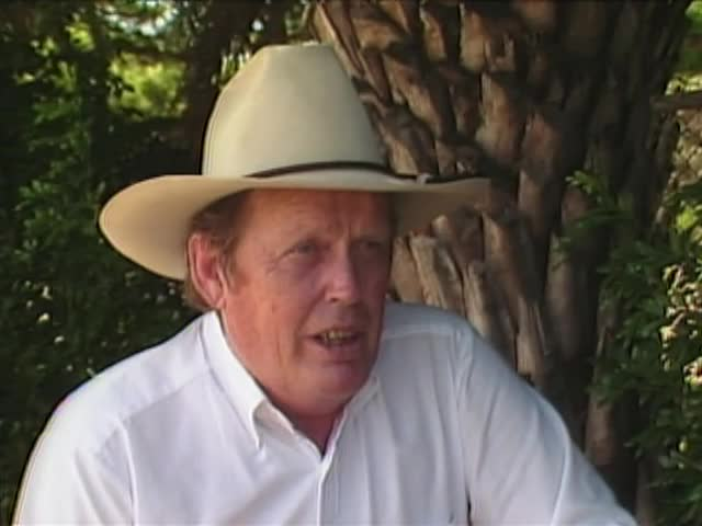 Interview with unidentified cowboy #1
