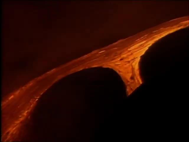Lava entering ocean at night 6/95 tape 1