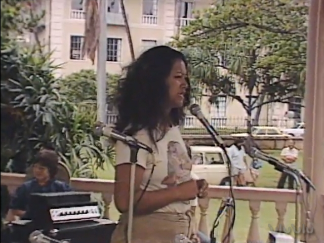 Kawehi Kanui: remarks, Tribute to George Helm and Kimo Mitchell, March 1982