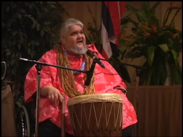 Kumu John Kaʻimikaua hula workshop at the Association of Hawaiian Civic Clubs 43rd Annual Convention, Las Vegas 11/15/02 part 1