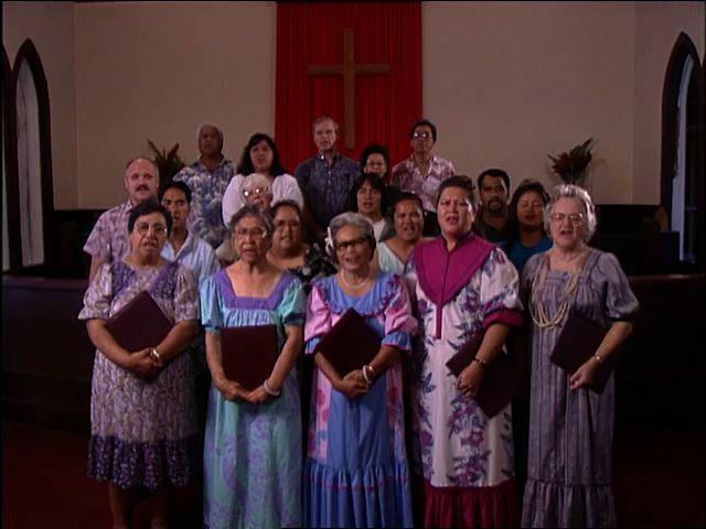 Mountain peaks and Waiʻoli Huiʻia Church Choir Hanalei, Kauaʻi 1/23/94