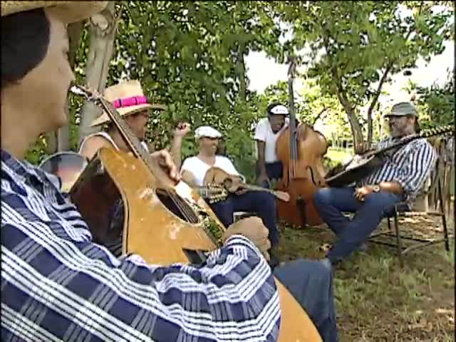 Backyard jam session with Eddie Kamae and the Sons of Hawaiʻi for NBC Today 11/2/91 tape 1