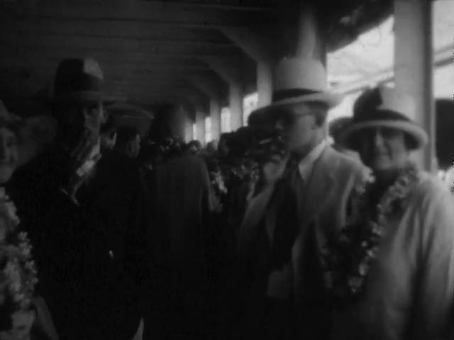 People wearing Lei, October 1929