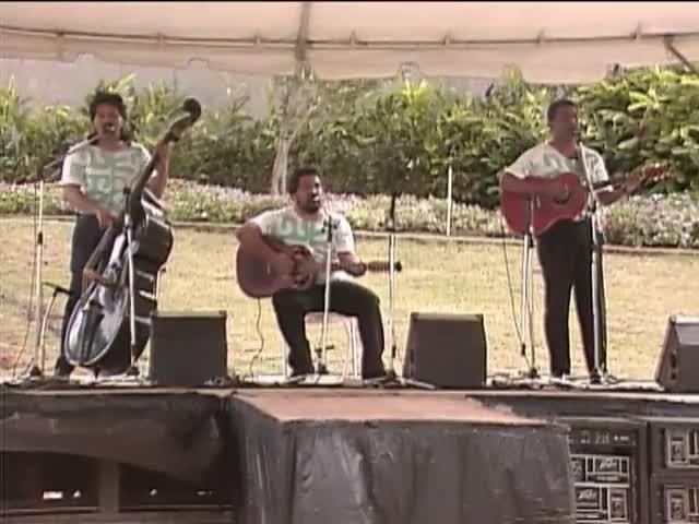 Brothers Cazimero with Leinaʻala Heine and Mākaha Sons of Niʻihau; Sky Gate Park 1/16/93