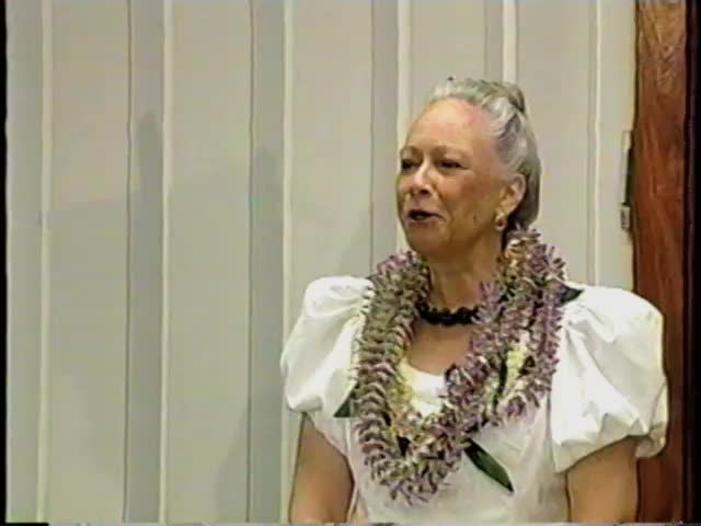 Nalani Olds presents Oli and Himeni at Midkiff Learning Center, Kamehameha Schools Kapālama 5/2/00