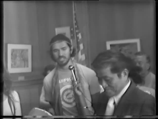 Protect Kahoʻolawe visits office of Lieutenant Governor Doi's office with Lt. Gov. Doi circa 1977