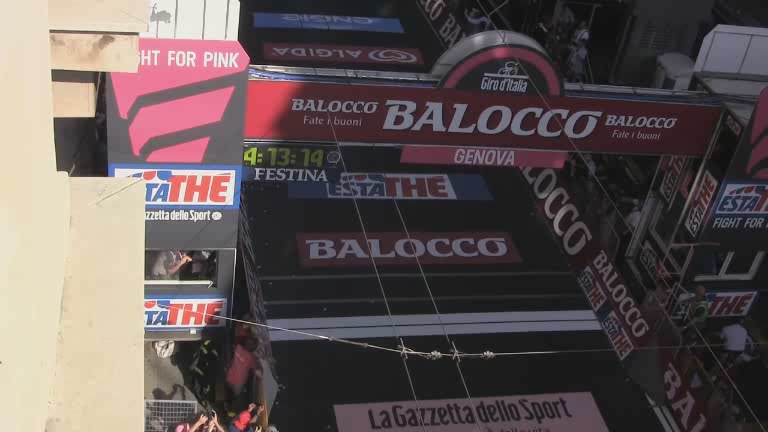 Seconda tappa Giro d'Italia 2015 : l'arrivo a Genova
