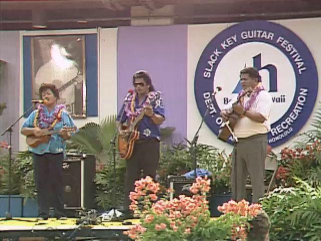 The Kahumokus and the Kaʻapanas at the Bankoh Kī Hōʻalu Festival at McCoy Pavilion Ala Moana Park 8/20/89