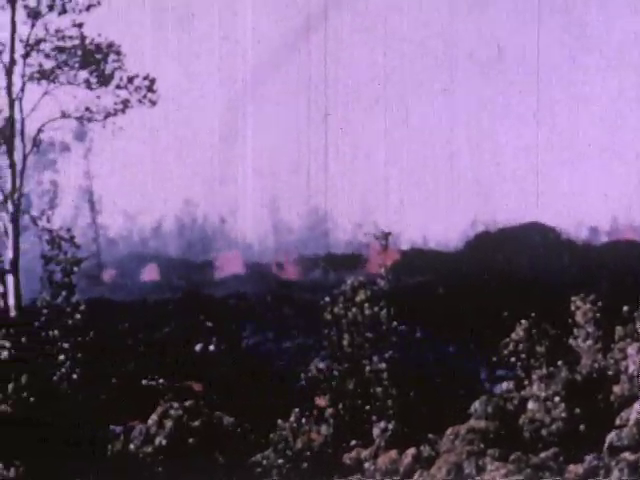1955 Puna Eruption Olaa Sugar Company (with sound)