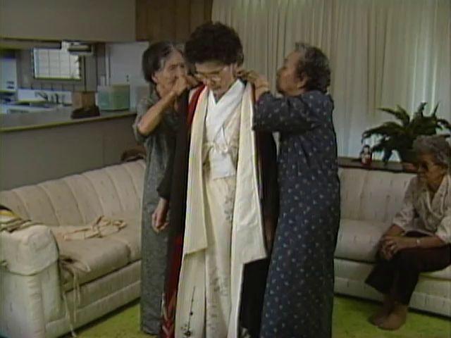 Shizu Kaigo kimono dressing #1 6/17/87