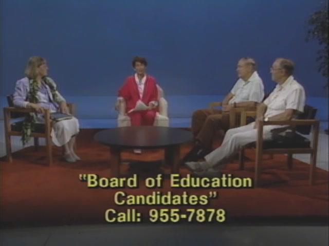 DIALOG : Board of Education Candidates - Oʻahu At Large and Hawaiʻi Island (1988)