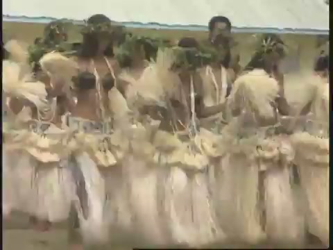 French Polynesian traditional dance