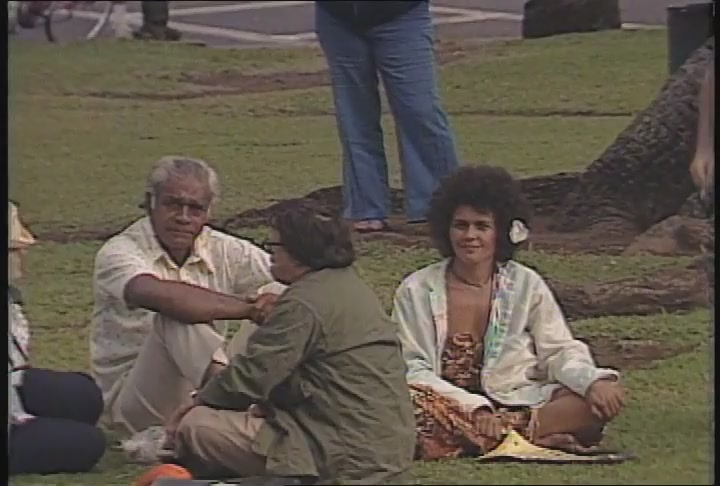 George Helm: Playback of audio recording of 1977 speech at ʻIolani Palace