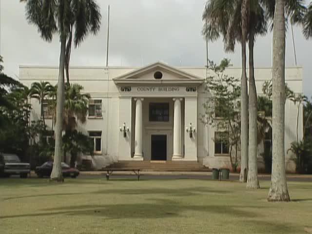 B-roll Kauaʻi buildings and sugar cane 5/30/96