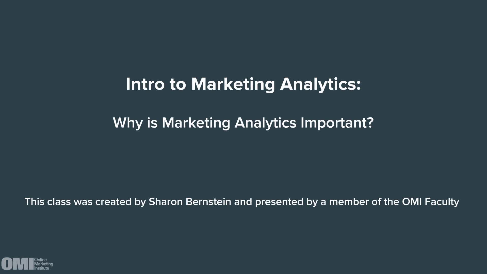 Intro to Marketing Analytics