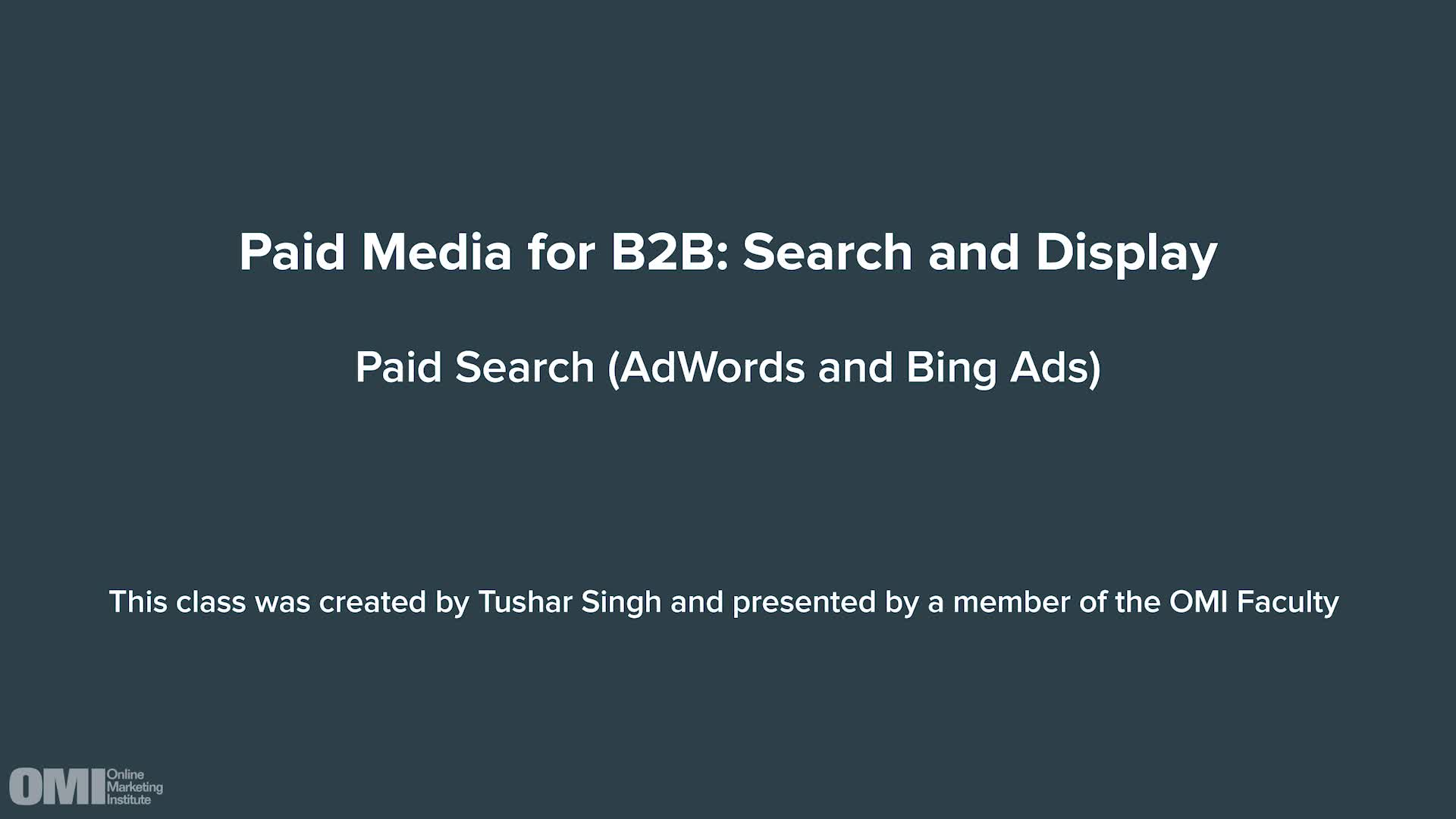 Paid Media for B2B: Search and Display
