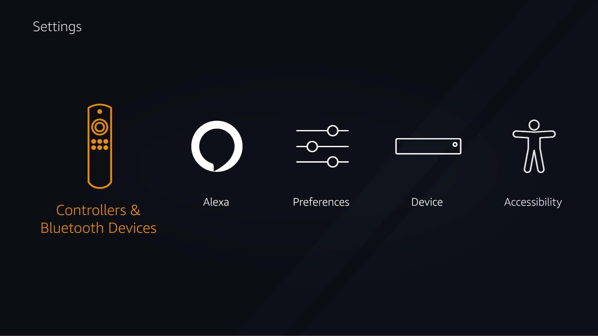 amazon com help fire tv settings basics